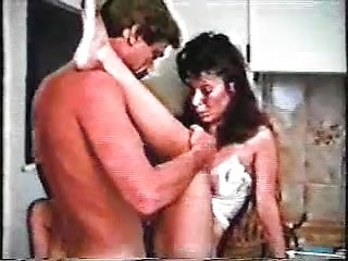 Hardcore vintage homeporn with brunette wife...