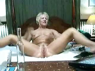 Drunk mature blonde wife stripping and...